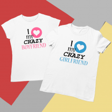 Set de tricouri albe Crazy Love