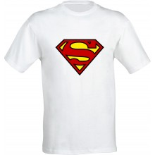 Tricou barbatesc ALB Superman
