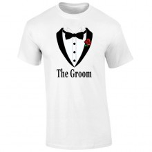 Tricou barbatesc ALB The Groom