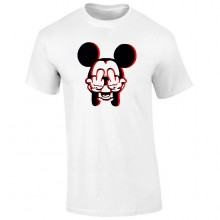 Tricou barbatesc ALB Mickey Signs