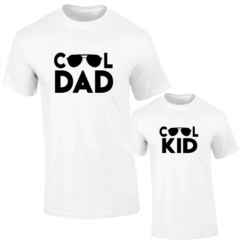 Set de tricouri albe Cool dad