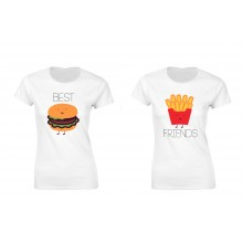 Set de tricouri Best Friends Hamburger/Cartofi